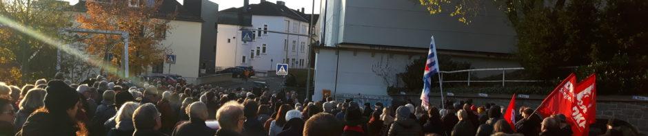 Gedenkveranstaltung anlässlich des 81. Jahrestags der Zerstörung der Synagogen in Deutschland in Siegen
