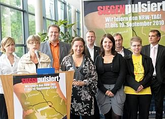 Das Organisationsteams des Siegener NRW-Tag