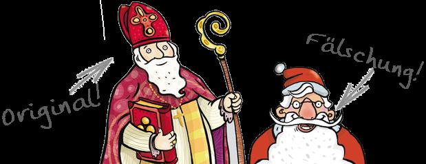 Der Nikolaus in echt und die Fälschung