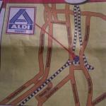 Anfahrtskizze von ALDI zum LIDL-Markt