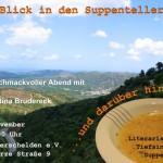 Einladungsflyer zum literarischen Abend mit Christina Brudereck