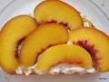 Nuss-Nougat-Creme, Frischkäse und Pfirsiche
