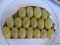 auch ein Klassiker -  Nuss-Nougat-Creme und Weintrauben