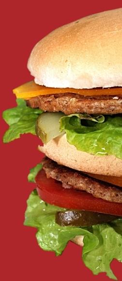 Hamburger mit Fleische, Salat, usw...
