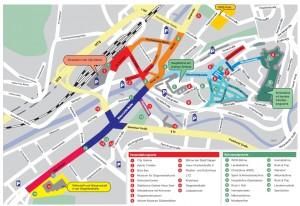 Lageplan vom NRW Tag in Siegen